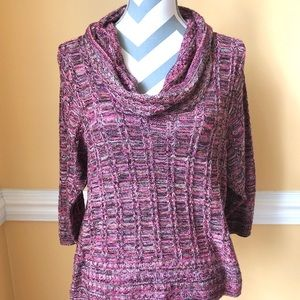 KIM ROGERS Knit Cowl Neck Sweater